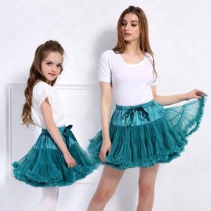 Verão Mulheres Meninas saia tutu Pettiskirt Lolita Petticoat ajustável Partido Elastic Ballet Vestidos Fluffy Chiffon Tutus Princesa Saia D61608
