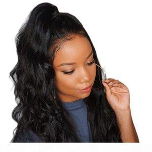 360 parrucca Pre Pizzico Lacefront Glueless onda lunga Corpo 360 frontale dei capelli umani parrucche piene del merletto candeggiati nodi con dei capelli del bambino per le donne
