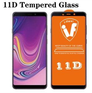 11d cobertura completa cola de vidro temperado para samsung a9 a8 a7 a8 a6 j6 J6 J6 J6 J6 Prime J2 Prime J2 Tela Protetor