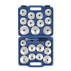 23 Stück / Set Auto Ölfilter Deckel-Entfernungs-Steckschlüssel-Satz Ratschenschlüssel Cup Typ mit tragbarem Speicher-Fall