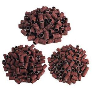 50 Adet / Paket 80 # 120 # 180 # Seçenekler Tırnak Dosyaları Adanmış Zımpara Halkası Taşlama Kafası, Parlatıcı Temel Malzemeler Kum Daire Manikür Aracı