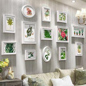 Blanc cadre photo Sofa fond cadre photo salle à manger en bois Chambre photo mur art vintage 13 Pieces Rétro Photos Hanging