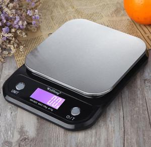 Digital Kitchen Alimentos Escala 5 Kg / 10Kg 0,1 g / 1 g de acero inoxidable Equipos de excavación electrónicos Postal de Herramientas de medición del peso de balance