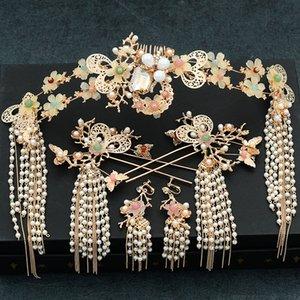 2019 New Braut Kopfbedeckung Schritt shake chinesischen Stil Quaste anzeigen Haarabnutzung Großhandel JCE057