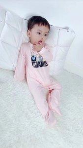 Новая осень / весна Baby Rompers одежды с длинными рукавами комбинезон с шляпой для новорожденных Мальчик Девочка флиса Одежда для новорожденных