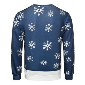 Digital gedruckte Teenager Sweatshirts Langarm-O Ansatz Male Apparel Weihnachten Printed Herren Designer Hoodies 3D