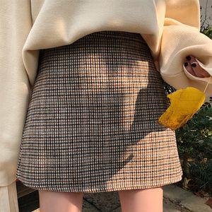 Casual Women's Skirts Japanese Harajuku Ulzzang Vintage High Waist A Word Skirt Female Korean Kawaii Cute Clothing For Women