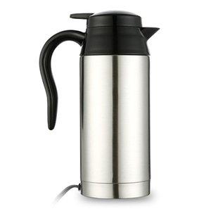 Автомобиль электрический чайник контроль температуры чайник из нержавеющей стали BPA-бесплатно горячей воды котел беспроводной со светодиодным индикатором авто Sh