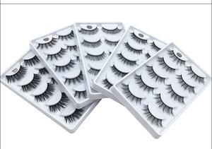 12 스타일 3D 밍크 속눈썹 머리 5 쌍 가짜 속눈썹 연장 속눈썹 손수건 자연 긴 가짜 눈 내리 젓가락 무료 배송