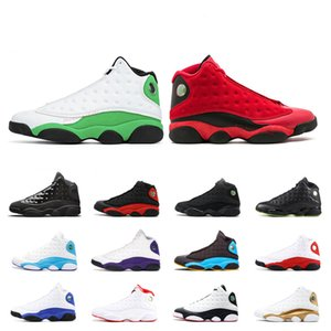 13 13s Lucky green Cap and gown men basketball shoes Court Purple Reverse He Got Game Black Cat CNY Bred sports sneakers shoes