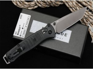 Special offer New butterfly 537 G10 D2 blade Axis Quick Open Folding knives Nylon Glass Fiber Handle Camping Pocket EDC knife