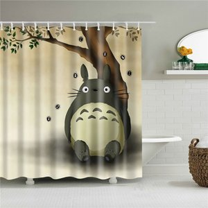 Anime Printed Shower Curtains Bathroom Curtain Fabric Funny Waterproof Screen Home Decor With Hanging Ring