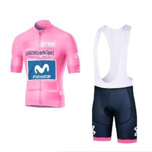 2020 Tour italia kits rose jersey cycliste de l'équipe pro Richard Carapaz course tissu vélo Ropa Ciclismo Maillot PAD GEL