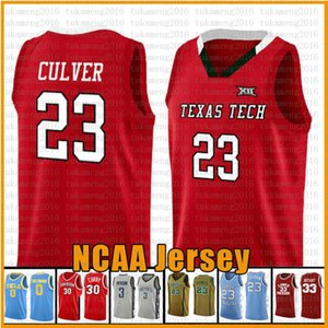 23 Culver Texas Tech Red Raider NCAA Colleveje Basquete Jersey Murray State Racers University 2 Leonard 3 Wade 11 Irving 30 Curry