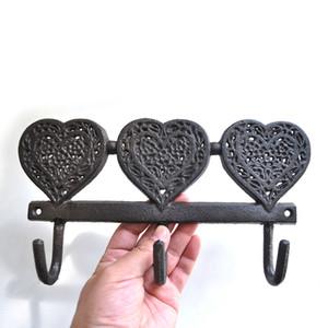تجويفه حديقة رف التخزين المناشف خمر جدار هوك الحديد الزهر الملابس المعلقة دائم الديكور الرئيسية شكل قلب