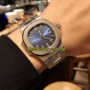 PP mejor versión Sport Nautilus 5711 / 1A 010 Dial mecánico automático 1A-011 relojes de lujo para hombre del reloj de acero Sapphire Cal.324 Carolina del Sur Blue