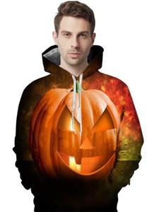 Day Saints Hommes Designer Casual hoodies 3D numérique Pumpkin Head Imprimer Hommes Hoodies Mode Big hommes Vêtements de poche