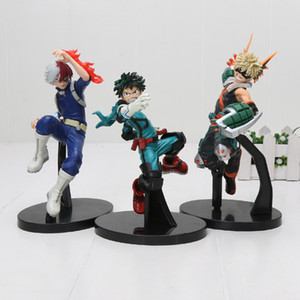 3pcs / My Hero Academia Figur Spielzeug Midoriya Izuku Bakugou Katsuki Shoto Todoroki Shoto kein Held PVC-Abbildung Modell Spielzeug T200106 gesetzt