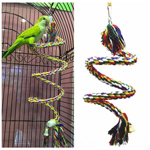 Parrot Bird Toys Rope Braided Pet Parrot Chew Rope Budgie Perch Coil Cage Cockatiel Toy Pet Birds Training Accessories