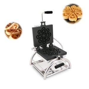110 / 220V Yapışmaz Ticari Dönebilir Waffle makinesi Paslanmaz Çelik Avrupa ve Amerikan Snack Waffle Makinesi Kek Makinesi