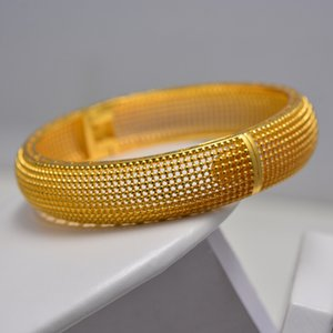 New Fashion Gold Color Jewelry Bangles for Women Ethiopian Bracelets Middle East African Party wedding Gifts