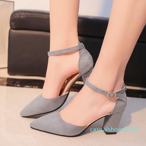 Fashion Designer Sandalias Women High Heels Flock Pointed Sandals Sexy Female Summer Shoes Mujer Zapatos Free Shipping c09