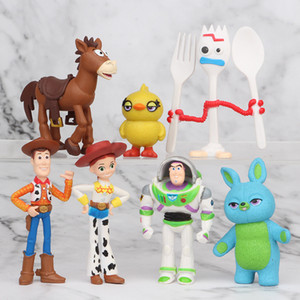 ZDY 3-inch Mini Doll Toy, Cartoon Robot, Forky Ducky, Slinky Dog, 7-piece Suit, Ornament for Party Kid' Birthday Christmas Gifts, Collecting