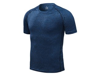 Sommermens Fest Aktiv-T-Shirts Quick Dry Pure Color Casual Male Tees Sport Short Sleeve Homme Pullover Tops