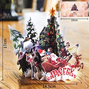 Рождество 3D Поздравительная открытка Творческий ручной Рождественская елка карты бумаги Бумага высокого качества поздравительных открыток для праздничных