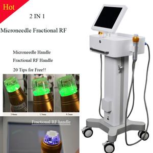 Micro agulha RF face fracionada Elevador Máquina thermage fracionário pele levantamento de uso doméstico máquina aprovada Manual
