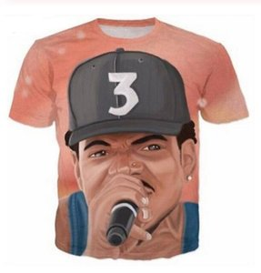 Summer Style Newest Fashion Mens Womens Chance The Rapper Funny 3D Print Casual T-Shirt W0114