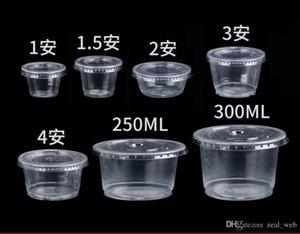 Kapaklar çeşni Kupası, Jello Shot 1oz 1.5oz 2 ons 4oz ile tek kullanımlık plastik Porsiyon Bardaklar sufle Kupası