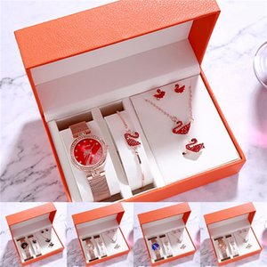 Ladies Watches Simple Women Watch Quartz Wristwatch Set Wrist Clock Female Romantic Gift Bracelet Relogio Saat Dames #W#478