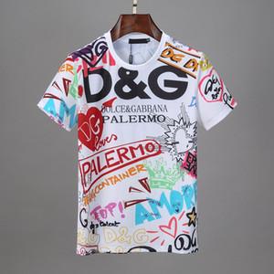 2020 мужские роскоши дизайнер одежды Новая Италия Марка Мужская футболка Летняя рубашка США Британский Французский стиль с коротким рукавом футболки