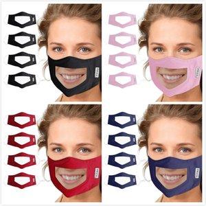 ПЭТ Lip Mask противотуманны Прозрачное лицо Маска Камуфляжа Хлопок маска глухонемых Дизайнерские Маски Soft Анти пыль Роты Обложка 8 Стиль DHB436