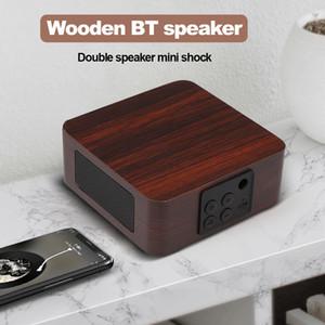 شعار مخصص بلوتوث اللاسلكية خشبي 4.2 المتحدث منزل صغير netbox المحمولة المتكلم الهاتف صغير مكبرات الصوت المزدوجة البث الصوتي