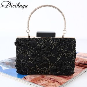 DICIHAYA Purse Design Beaded Flowers Clutch With Wristlet Money Women Pocket Handbags Bags Bag Evening For Party Wedding Xsone
