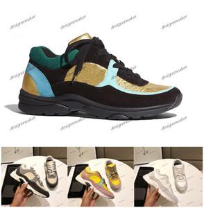 2019 Nova França Suede Casual sapatos de couro das mulheres dos homens das sapatilhas populares Mixed Ténis Cor pai Sapatilha chaussures