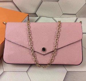 Noite de couro Bolsas Cadeia Moda Shoulder Bag Designer Handbag presbiopia Mini Pacote Messenger Bag Cartão Titula Purse Wholsale Felicie