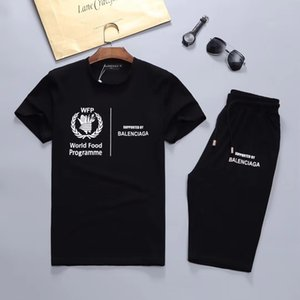 2020Men's new brand designer suit T-shirt and pants men's cotton short sportswear ladies summer suit short sports suit 2 piece set s-3XL