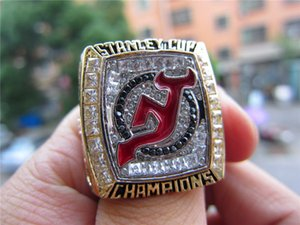 2003 New Jersey Devils Stanley Cup Team Champions Championship Ring With Wooden Display Box Souvenir Fan Gift Wholesale 2019 Drop Shipping