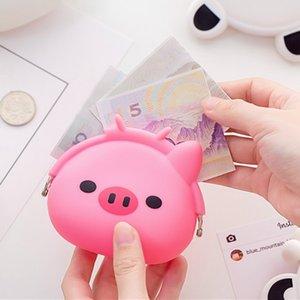 Mini hebilla de silicona monedero encantador Animal de dibujos animados suave pequeño dinero cartera bolsillo bolso mujer monedero embrague Dropship