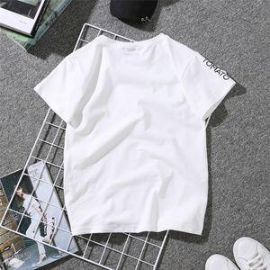 Femmes Stylistes Femme Chemise d'été 2019 Couples Lovers T-shirt pour T-shirt blanc Casual femmes T-shirt Love Heart Imprimer Femme