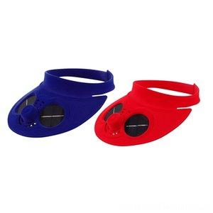 2 шт Летний спорт Открытый Hat Cap с солнечной энергии Sun Вентилятор охлаждения Велосипед Восхождение Малые Кондиционер Appliances Шляпы Шапки Шляпы, S