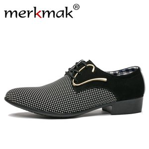 Merkmak Men Leather Shoes Office Men's Dress Suit Shoes Italian Style Wedding Casual Shoes Pointed Toe Business Men