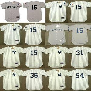 camiseta de béisbol New York 15 Thurman Munson 31 Dave Winfield 36 Dock Ellis 54 RICH Gossage 17 30 Gene Michael Mel Stottlemyre MARIANO RIVERA