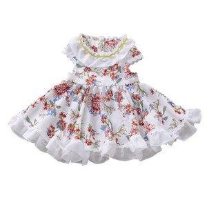 Girl's Dresses Bunvel Toddler Baby Girl Summer Dress Off Shoulder Lace Flower Formal Party Princess Sundress Kids Girls Clothes