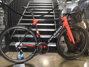 Kırmızı Colnago C60 parlak siyah mat Yol karbon komple Bisiklet COLNAGO gidon Orjinal 105 R7000 groupset kırmızı