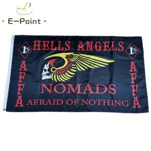 Hells Angels мотоциклов Flag 3 * 5 футов (90см * 150см) Полиэстер флаг Баннер украшение летающего флаг дома сада Праздничные подарки