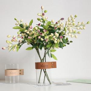 Falso Olive Frutta Bean Branch fiori per Natale Artificial Plant Berry Fiori per casa di cerimonia nuziale della stanza della decorazione della parete del fiore delle piante